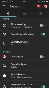 Az Screen recorder settings